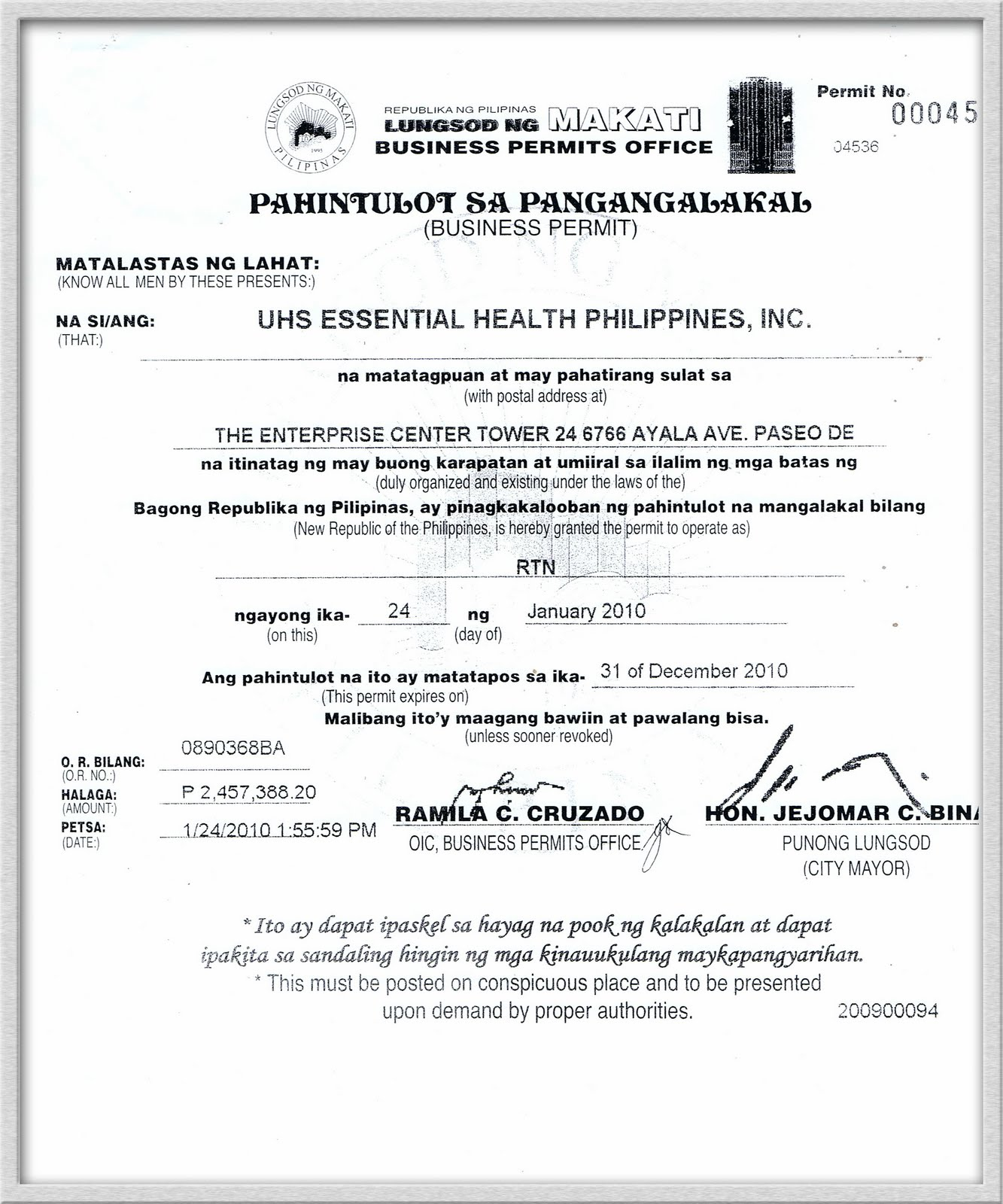 Permits For Business Philippines Usana Philippines Business