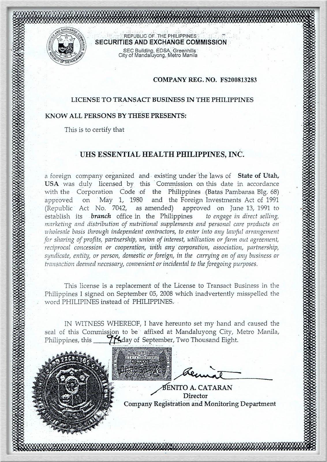 usana bfad  u0026 s e c certificate  u00ab your health consultant